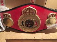 Full sized boxing title belt