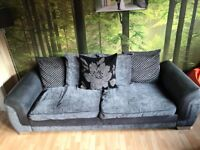 DFS Grey and Black Sofa - Great Condition