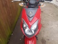 Sym jet 4 moped 12 plate
