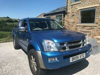 Isuzu Rodeo pickup, mot Oct 2017' auto, diesel 3.0. 139.000milesth some service history. Load cover,