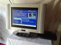 "TV / Television 15"" LCD Widescreen Aloustic Solutions & Bush Freeview Box #FREE LOCAL DELIVERY#"
