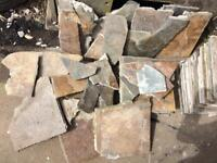 Used slate tiles (ideal for mosaic).
