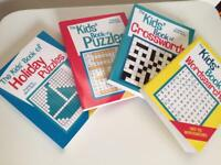 Puzzle Books for Kids x 4