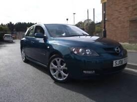 2008 Mazda 3 2.0 d sport 143 bhp metallic pearl blue very high spec Sport