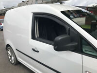 SNED Top Premium Quality Dark Smoked In Channel Wind Deflectors VW Caddy Van