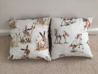 Pair of Animal Print Cushion Covers with Cushions