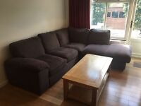 Grey/charcoal corner sofa from Cargo. Fantastic condition. Available until 11th June.