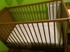 Cot Bed with drawer and mattress