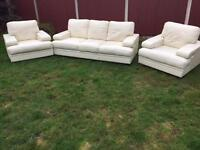 Stunning Italian leather sofa suite. Outstanding condition cost £4K new free local delivery