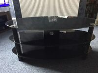 3Tier Black glass TV stand