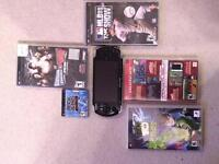 PSP and 5 games for sale