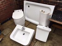 RAK chunky Bathroom suite and shower tray