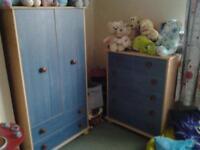 Childrens Wardrobe & Drawers