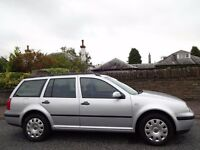 12 MONTH WARRANTY! (2006) VW GOLF 1.9 TDi ESTATE 130BHP One Owner- Genuine 50K Miles- FSH- Top Spec!