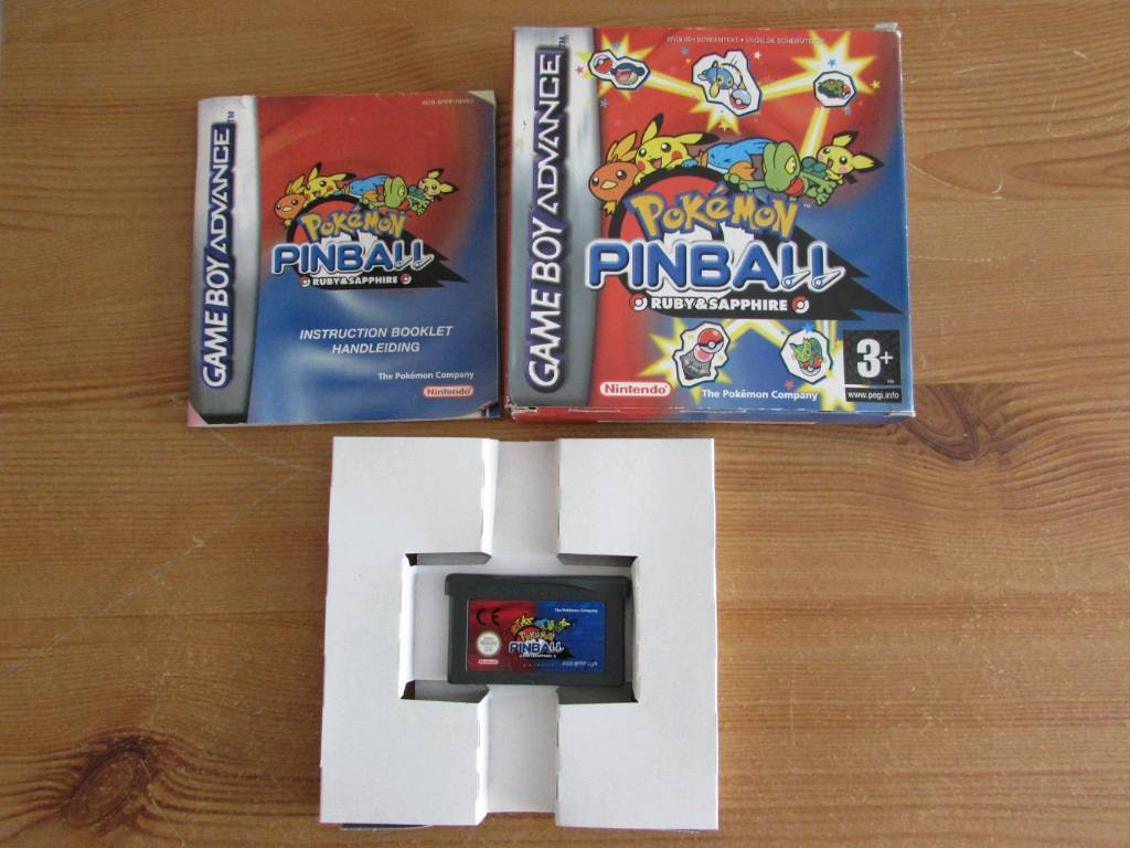 Pokemon pinball boxed complete gameboy advance