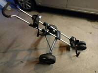 3 wheel golf trolley. Vgc.