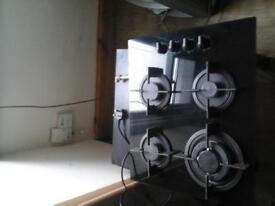black gas ceramic hob