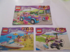LEGO FRIENDS SMALL LEGO SETS X3 / INSTRUCTIONS - FROM £5.00 - GC