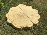 Log Tree Stump Effect paving garden Stepping Stones Buff £3 each
