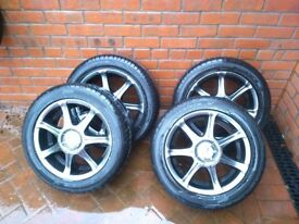 Special addition BK Racing alloys with nearly new tyres.