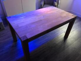 Solid oak dining table 150x90