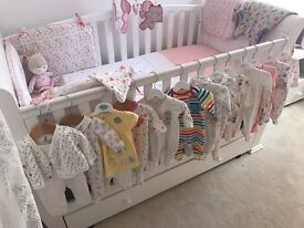 New born and 1 month baby girl clothes for sale