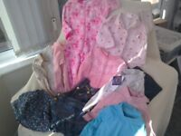 Girls bundle of clothes 18-24 months Peppa pig sleepsuit + pyjamas + knitted dress + more