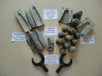 Sea fishing weight moulds with a variety of ready made weights and oarlocks