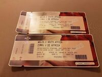 Wales vs South Africa tickets ×2