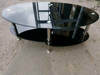 Coffee Table - Quality Stylish 3 Layer Black Glass Coffee Table