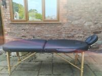 Massage / therapy table in excellent condition portable folding