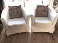 IKEA Tullsta Natural/White Chairs x2