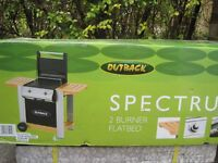 Outback Spectrum 2 Burner Flatbed Gas BBQ (TRG2301P) Unused in Packageing