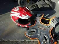 Fullface Helmet for scrambling/quading