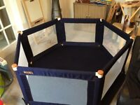 Large fabric playpen