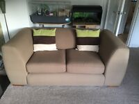 Sofa bed and 2 seater sofa