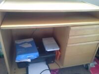 Computer Desk & HP printer for sale. Good condition.