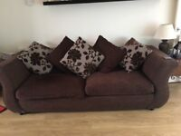 Four seater sofa and arm chair for sale