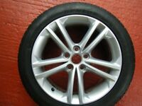 VAUXHALL INSIGNIA 18inch WHEEL x1 AND NEW DUNLOP SPORT TYRE ...EXCELLENT ......