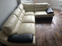 Reids 4 seater leather corner suite