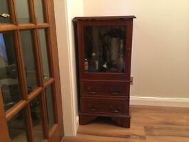 Solid mahogany stereo cabinet