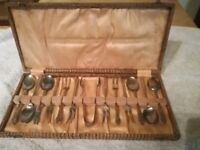 antique pastry knife and fork set of 6