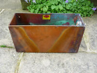 "Vintage Salvage Copper Tank Garden Trough Bulb Planter Tub 17"" x 9.5"" x 6"""