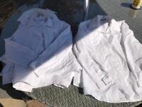 8 white girls school shirts long sleeve age 10