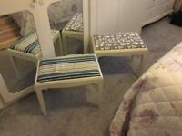 STAG Dressing table,mirrors and stools
