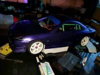 Rc car for sale s13 with working lights all new never been ouside used onces.