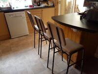 Set of 3 breakfast chairs. Stackable.