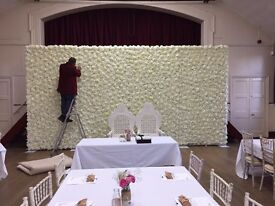 Wedding Flower Wall Backdrop Hire only £449 10ft x 20ft wide FREE LONDON DELIVERY AND COLLECTION