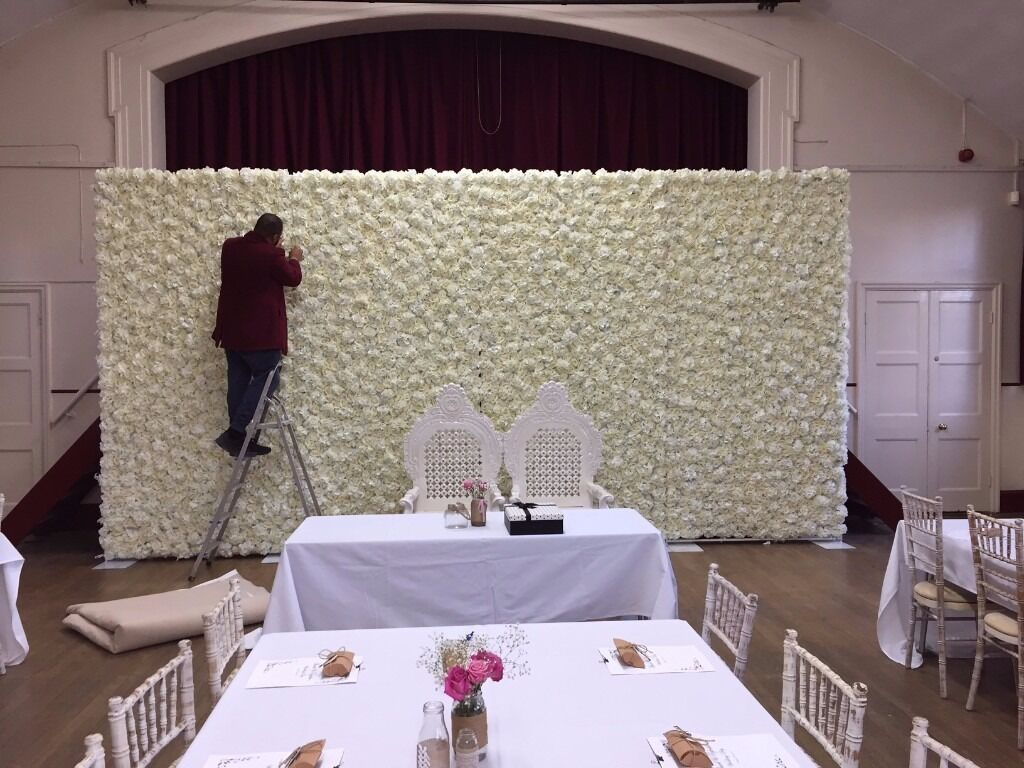 Wedding Flower Wall Backdrop Hire Only 449 10ft X 20ft Wide Free