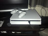 PlayStation 4 in white almost brand new!!